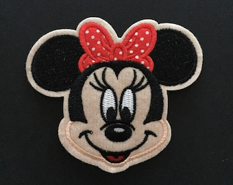 """Minnie Mouse Iron on Embroidered patch (L=3.0"""" x W=3.5"""")"""