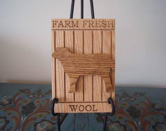 Farm Fresh Wool Sign