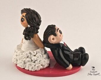 Bride Dragging Groom Wedding Cake Topper