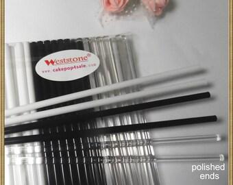 """60pcs 6"""" (15cm) Acrylic Lollipop Sticks For Cake Pops or Lollipop Candy - 3 colors mixed"""