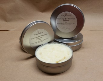 The Razor's Edge After Shave Cream  112g/Tin (4 oz tins) / Moisturizer / Lotion / Shea Butter / Coconut Oil