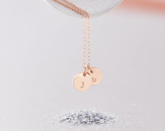 Rose Gold Initial Necklace / 9ct Rose Gold Necklace / 9ct Rose Gold Initial Necklace / Solid Rose Gold Necklace / 9ct Solid Gold Necklace