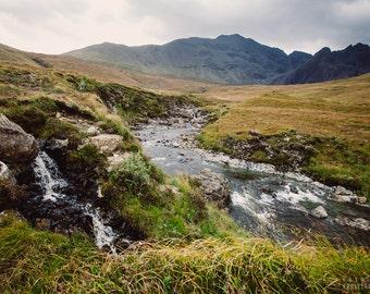 LOOMING photography print,  Isle of Skye Scotland landscape, 8x12