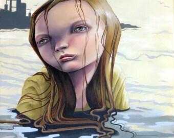 "Popsurreal original painting ""Echoes"""
