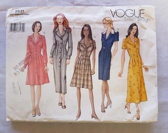 Vintage Vogue Basic Design 2531 Sewing Pattern//Dress//Size 8-10-12