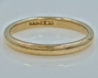 Victorian 18k Solid Gold Stacking Ring or Wedding Band Size 10 1/4