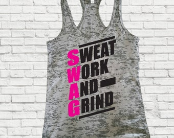 Women's Fitness Tank Top.Inspirational Tank Top, SWAG TANK top. Workout Tank. Workout Tank Top. Burnout tank. Motivational Tank top,