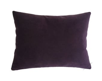 Purple Velvet Suede Decorative Throw Pillow Cover / Pillow Case / Cushion Cover / 12x16""