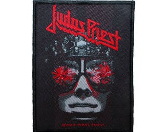 Judas Priest Hell Bent For Leather Patch Album Art Metal Woven Sew On Applique