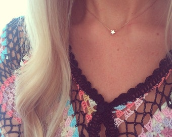 The Little Rose Gold Star Necklace - Complete with Gift Wrap