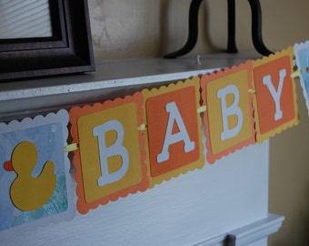 Welcome Baby Banner, Baby Shower Banner, Rubber Duck Banner, Rubber Duck Shower, Rubber Duckie Theme