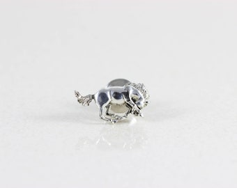 Mens Sterling Silver Horse Pin Tie Tack Lapel Pin