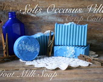 Solis Occasus Villa Goat Milk Soap - Crisp Cotton