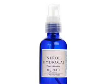 Neroli Blossom Hydrolat Facial Mist, Orange Blossom Flower Water, Facial Toner Spray For Combination Skin, Natural Toner, 2oz Travel Size