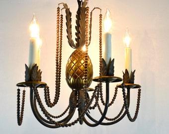 Antique Brass Pineapple Chandelier
