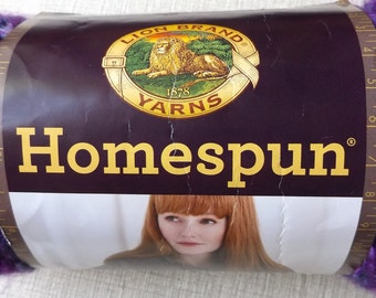 DESTASH - This Listing is for One Skein of Lion Brand Homespun Purple Haze Yarn -  Never Used #421 Variegated