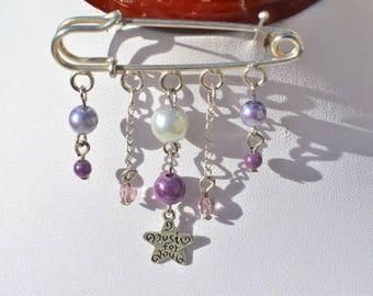 Purple Star brooch