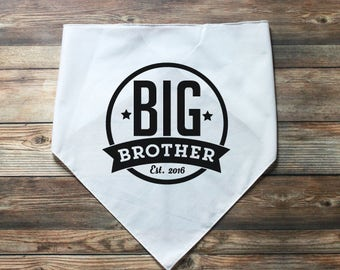 Dog Big Brother Bandana - Dog Pregnancy Announcement - Personalized Dog Bandana - Dog Baby Announcement - New Baby Announcement - Pet