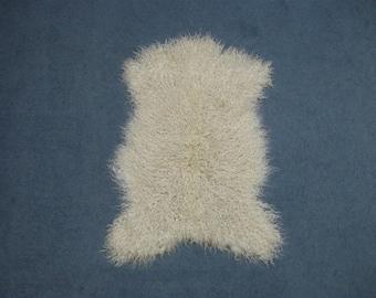 White Angora Goatskin #1 Large (66-A1L-WH-G118EW)