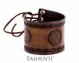 Leather Celtic Bracelet - Craftwork - Made in Poland