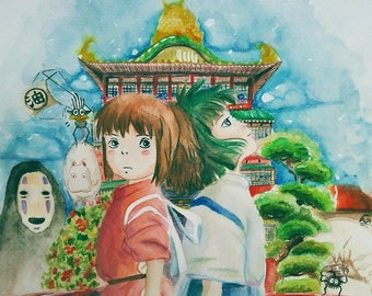 Spirited away watercolor