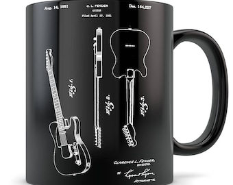 Electric Guitar Gift, electric guitar mug, guitar gift for men and women, guitar gift idea, gibson les paul mug, guitar teacher gifts
