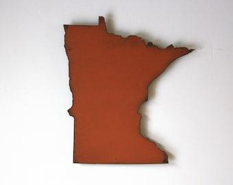 Minnesota metal wall art map - 26.5w x 30h - MN wall decor - choose your color - USA art state - Minnesota art - minneapolis saint paul