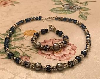 Midnight Blue Majesty Necklace Only