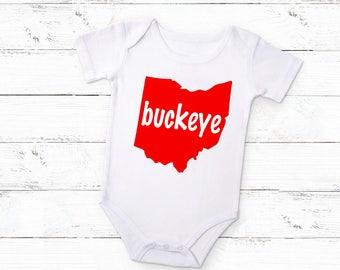 Ohio State Buckeyes Baby / Ohio State Shirt / Ohio State Baby Girl / Ohio State Baby Boy