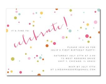Kid's Birthday Invitation   Celebrate!