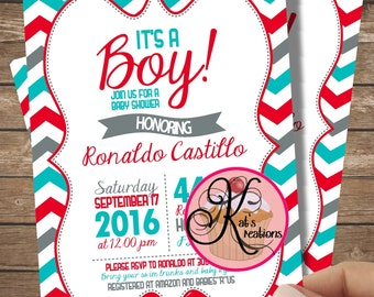 It's a Boy Baby Shower Printable Invitation