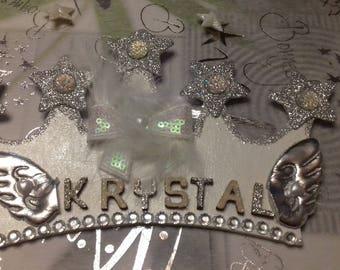 Pretty krystal personalized Princess Crown