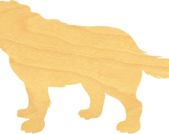 St Bernard Dog Wood Cutout Small Sizes Up to 12 Inches  - Shapes for Projects or Other Use