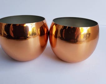 Pair of Rounded Coppercraft Guild Cups