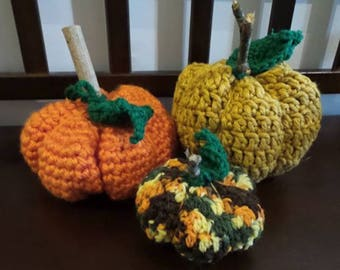 Crochet Pumpkins - Pumpkins - Stuffed pumpkins - Fall Pumpkins - Halloween - Halloween Decor - Fall decor