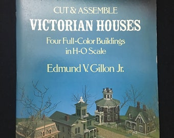 Victorian Houses, Four Cut and Assemble Buildings in H-O Scale