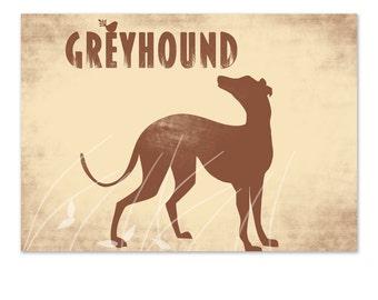Greyhound Dog Art  - Fine art print, greyhound print, coursing game, racing dog, fine art print