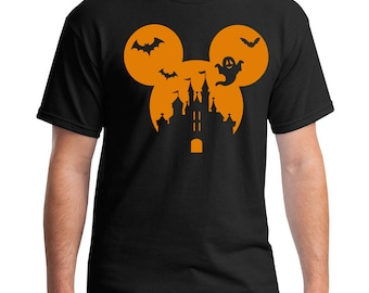 Halloween Castle T-Shirt - Happiest Place Ever T-Shirt - Halloween Mouse Ears T-Shirt - Men's Mouse Ears T-Shirt - Men's Halloween T-Shirt