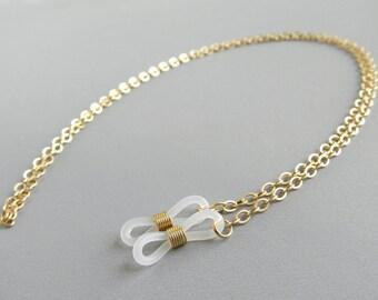 Gold Eyeglass Chain - Gold Chain Glasses - Gold Glasses Chain - Eye Glass Chain - Eyeglass Holder Chain - Sunglasses Chain - For Men