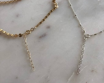 Add on chain extender for necklaces & bracelets