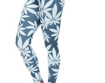 Ganja print leggings