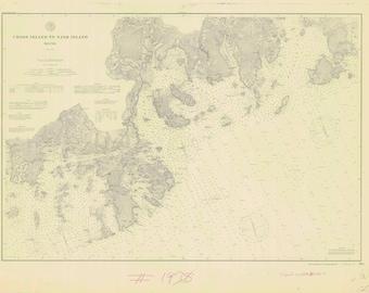 Cross Island to Nash Island Maine Map 1891