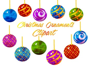 Ornament Clipart Christmas Clip Art Holiday For Personal And Commercial Use Instant Download Scrapbooking