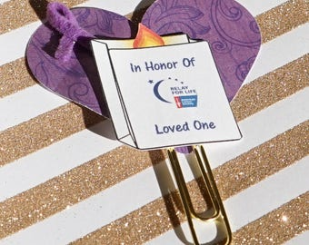 Relay For Life luminaria planner clip