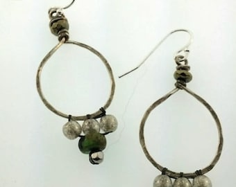Hand forged woven earrings