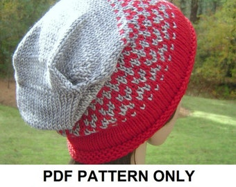 Knitting Pattern - Slouchy Hat Pattern - the SHOHOLA slouchy hat (Toddler, Child & Adult sizes incl'd)