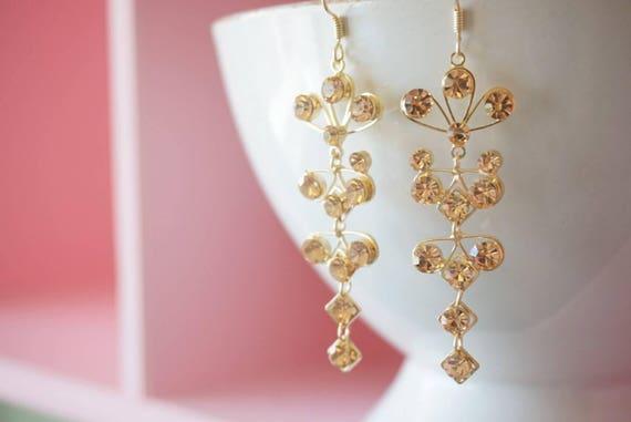 SALERose gold earring bridal earring wedding rose gold