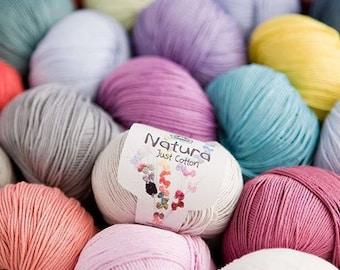 DMC Natura Just Cotton crochet yarn, cotton yarn, crochet thread, amigurumi yarn, knitting thread, knitting yarn, combed cotton, yarn