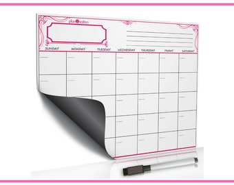 Family Dry Erase~Magnetic White Board~Reusable Calendar~Memo Calendar~Calendar Monthly~Dry Erase Memo~Calendar Whiteboard
