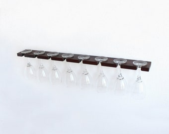 Wine Glass Rack | Stemware Rack | Wood Wine Glass Holder | Hanging Stemware Glass  Holder Storage